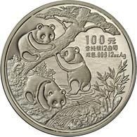 China - Volksrepublik: 100 Yuan 1990, Silber Panda, 12 OZ (373,25 G), Großer Pandabär, Auflage Nur 5 - China
