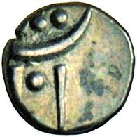 Indien: Lot 4 Münzen, Davon 3 X Gold. Indische Fanam O.J. (18 - 19 Jh.). Zusammen 1,46 G. Dabei: Mal - India