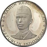 Indonesien: Proof-Set 1970; 200,250,500,750 & 1000 Rupiah; KM#23,24,25,26,27, Mit Zertifikat Und Col - Indonesia