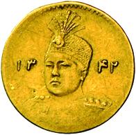 Iran: Ahmed AH 1327-1344 (1909-1925): 1/5 Toman (2000 Dinars), Gold 900/1000; 0,56 G, Friedberg 86, - Iran