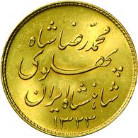 Iran - Anlagegold: Lot 3 Goldmünzen: 1/4 Pahlavi 1959 (SH 1338), KM # 1160a, Friedberg 104, Sehr Sch - Iran