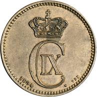 Dänemark: Christian IX. 1863-1906: 5 Öre 1894 VBP, KM 794.1, Selten In Dieser Erhaltung, Schöne Kupf - Denmark