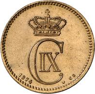 Dänemark: Christian IX. 1863-1906: 5 Öre 1874 CS, KM 794.1, Selten In Dieser Erhaltung, Stempelglanz - Denmark