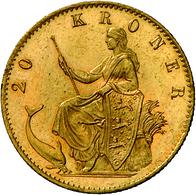 Dänemark - Anlagegold: Christian IX. 1863-1906: Lot 2 Goldmünzen: 10 Kronen 1873, KM # 790.1, Friedb - Denmark