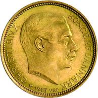 Dänemark - Anlagegold: Christian X. 1912-1947: 20 Kroner 1913, KM# 817.1, Friedberg 299, 8,96 G, 900 - Denmark