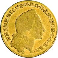 Dänemark: Frederik V 1746-1766: Dukat (12 Mark) 1761, Friedberg 269. 3,02 G. Schön. - Denmark