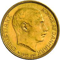 Dänemark - Anlagegold: Christian X. 1912-1947: 20 Kroner 1917, Gold 900/1000, 8,96 G, Friedberg 299, - Denmark