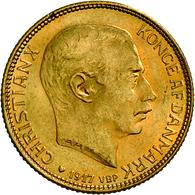 Dänemark - Anlagegold: Christian X. 1912-1947: Lot 2 Goldmünzen: 10 Kronen 1913, KM # 816, Friedberg - Denmark