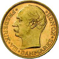 Dänemark - Anlagegold: Frederik VIII. 1906-1912: Lot 2 Goldmünzen: 10 Kronen 1909, KM # 809, Friedbe - Denmark