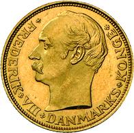 Dänemark - Anlagegold: Frederik XIII. 1906-1912: Lot 3 Goldmünzen. 2 X 10 Kroner 1909, KM# 809, Frie - Denmark