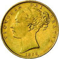 Großbritannien - Anlagegold: Victoria 1837-1901: Lot 3 Goldmünzen: ½ Sovereign 1896, KM # 784, Fried - Great Britain