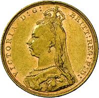 Großbritannien - Anlagegold: Victoria 1837-1901: Lot 2 Goldmünzen: 2 X Sovereign 1892, KM# 767, Frie - Great Britain