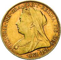 Großbritannien - Anlagegold: Victoria 1837-1901: Lot 2 Goldmünzen: ½ Sovereign 1895 KM# 784, Friedbe - Great Britain