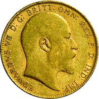 Großbritannien - Anlagegold: Edward VII 1901-1911: Lot 2 Goldmünzen: ½ Sovereign 1910, KM # 804, Fri - Great Britain