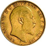 Großbritannien - Anlagegold: Edward VII. 1901-1910: Lot 2 Goldmünzen: 2 X Sovereign 1910, KM# 805, F - Great Britain