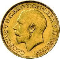 Großbritannien - Anlagegold: Georg V. 1910-1936: Lot 2 Goldmünzen: Sovereign 1915 + 1916, KM# 820, F - Great Britain