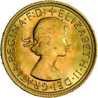 Großbritannien - Anlagegold: Elisabeth II. (seit 1952): Lot 2 Goldmünzen: Sovereign 1966 + 1967, Gew - Great Britain