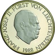 Liechtenstein - Anlagegold: Franz Josef II. 1938-1989: Set 50 Franken 1988; Gold 900/1000; 10 G; HMZ - Liechtenstein
