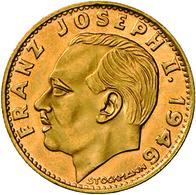 Liechtenstein - Anlagegold: Franz Josef II. 1938-1989: Lot 2 Stück; 20 Franken 1966; Gold 900/1000; - Liechtenstein