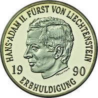 Liechtenstein - Anlagegold: Hans Adam II. Seit 1990: Set 50 Franken 1990; Gold 900/1000; 10 G; HMZ 2 - Liechtenstein