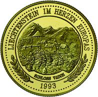 Liechtenstein: Hans Adam II. Seit 1990: 150 Ecu 1993, Gold 750/100, 6,72 G, Polierte Platte. - Liechtenstein