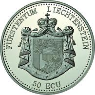 Liechtenstein: Hans Adam II. Seit 1990: 50 Ecu 1995, 50 Jahre UNO, 5 Unzen Silber, Polierte Platte, - Liechtenstein