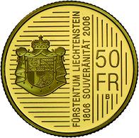 Liechtenstein - Anlagegold: Hans Adam II. Seit 1990: 50 Franken 2006; Gold 900/1000; 10 G, HMZ 2-139 - Liechtenstein