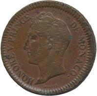 Monaco: Honoré V. 1819-1841: Lot 5 Stück; 2 X Un Décime 1838 Und 3 X 5 Centimes 1837, Schön-sehr Sch - Monaco