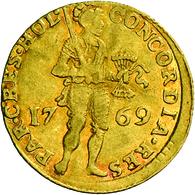 Niederlande: Vereinigte Provinzen 1581-1795. Provinz Holland: 1 Dukat 1769. Stehender Ritter Mit Ges - [ 3] 1815-… : Kingdom Of The Netherlands