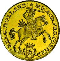 Niederlande - Anlagegold: 14 Gulden 1750 (Neuprägung Um 1960). Friedberg 253. Av. Nach Rechts Spring - [ 8] Gold And Silver Coins