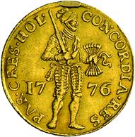 Niederlande - Anlagegold: 1 Dukat 1776, KM # 12.3, Friedberg 250, Henkelspur Sonst Sehr Schön. 3,48 - [ 8] Gold And Silver Coins
