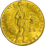 Niederlande - Anlagegold: Willemina 1890-1948: Lot 2 Goldmünzen: 2 X 1 Dukat 1928, Münzzeichen Seepf - [ 8] Gold And Silver Coins
