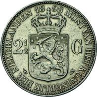Niederlande: Wilhelmina 1890-1948: 2½ Gulden 1898, Variante P. Pander, Kratzer, Sehr Schön. - [ 3] 1815-… : Kingdom Of The Netherlands