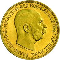 Österreich - Anlagegold: Franz Josef I. 1848-1916: 20 Kronen 1915 (NP) 6,78 G, 900/1000. Vorzüglich - Austria