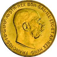 Österreich - Anlagegold: Franz Joseph I. 1848-1916: 100 Kronen 1915 (NP), Gold 900/1000, 33,87 G, Fr - Austria