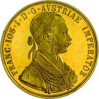 Österreich - Anlagegold: Franz Joseph I. 1848-1916: 4 Dukaten 1915 (NP). Gold 986/1000, 13,96 G, Fri - Austria