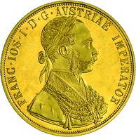 Österreich - Anlagegold: Franz Joseph I. 1848-1916: Lot 2 Goldmünzen: 2 X 4 Dukaten 1915 (NP), KM# 2 - Austria