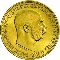 Österreich - Anlagegold: Franz Joseph I. 1848-1916: Lot 3 Goldmünzen: 2 X 1 Dukat 1915 (NP, Je 3,48 - Austria
