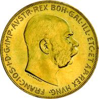 Österreich - Anlagegold: Lot 8 Goldmünzen: Serie Goldmünzen Mit Folgenden Nominalen: 4 Florin 1892, - Austria