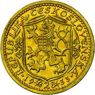 Tschechoslowakei - Anlagegold: 2 Dukat 1933, Hl. Wenzel Herzog Von Böhmen, KM # 9, Friedberg 1, Novo - Czechoslovakia