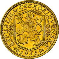 Tschechoslowakei - Anlagegold: Dukat 1936, Hl. Wenzel Herzog Von Böhmen, KM # 8, Friedberg 2, Novotn - Czechoslovakia