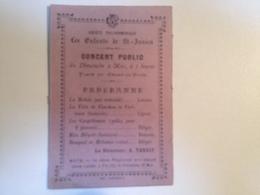 ST Junien,87,  Concert Public , Société Philharmonique , Vers 1920, Carte Publicitaire - Programmi