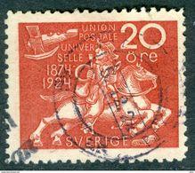 SWEDEN 1924 20o Rose Red UPU Anniversary Fine Used SG 216 - Sweden