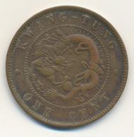 China: Kleine Sammlung Von 15 Chinesischen Münzen Um 1900, Dabei: 1 Cent Kwang-Tung Province, 10 Cas - China