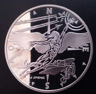 """FRANCE 10 FRANCS 2000 SILVER PROOF """"XXth Century - Flight"""" Free Shipping Via Registered Air Mail - K. 10 Francs"""