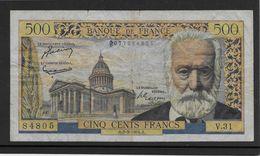 France 500 Francs Victor Hugo - 2-9-1954 - Fayette N°35-3 - TB - 500 F 1954-1958 ''Victor Hugo''