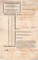 1836 - ENTREPRISE DE DILIGENCES De Jh DELRIEU & Cie - De Montpellier à Béziers Aller Et Retour - Documents Historiques
