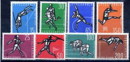 YUGOSLAVIA 1962 European Athletics MNH / **.  Michel 1016-23 - 1945-1992 Socialist Federal Republic Of Yugoslavia