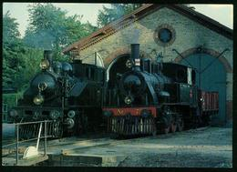 AKx Bahn | Rungsted Remise Dänemark 1985 Mit Lok ØSJS Nr. 7 Und Lok OKMJ Nr. 14, Dampflok - Trains