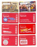 Russia 8 Urmet Phonecards + 16 Transport Mifare Cards - Russia